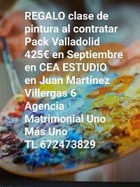 Regalo clase de pintura al contratar Pack Valladolid